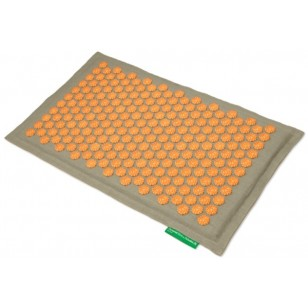 """Advaita masažinis kilimėlis """"Pranamat Eco"""" natūralus linas ir oranžiniai lotosai"""