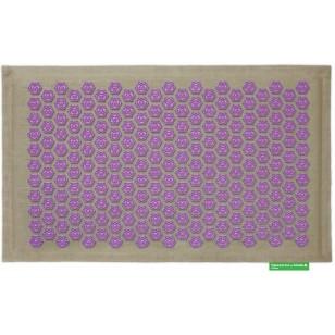 """Advaita masažinis kilimėlis """"Pranamat Eco"""" natūralus linas ir violetiniai lotosai"""