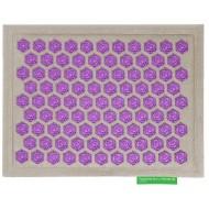 """Advaita masažinis kilimėlis """"Pranamat Eco Mini"""" natūralus linas ir violetiniai lotosai"""