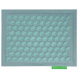 """Advaita masažinis kilimėlis """"Pranamat Eco Mini"""" turkio spalvos linas ir turkio spalvos lotosai"""