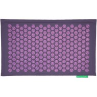 """Advaita masažinis kilimėlis """"Pranamat Eco"""" pilkai violetinis linas ir violetiniai lotosai"""