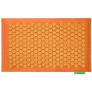 """Advaita masažinis kilimėlis """"Pranamat Eco"""" oranžinis linas ir oranžiniai lotosai"""