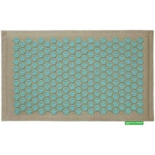 """Advaita masažinis kilimėlis """"Pranamat Eco"""" natūralus linas ir turkio spalvos lotosai"""