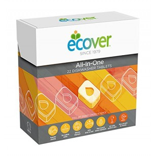 Indaplovių tabletės ECOVER All-in-one, 500g (25tabletės)